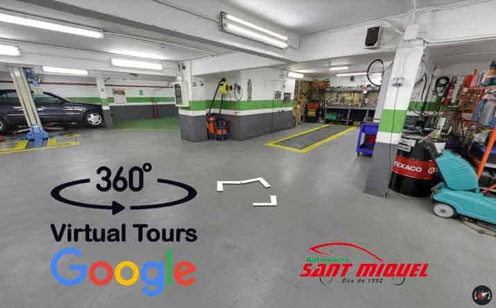 Visita virtual de Automoció Sant Miquel, s.l. en google 360º