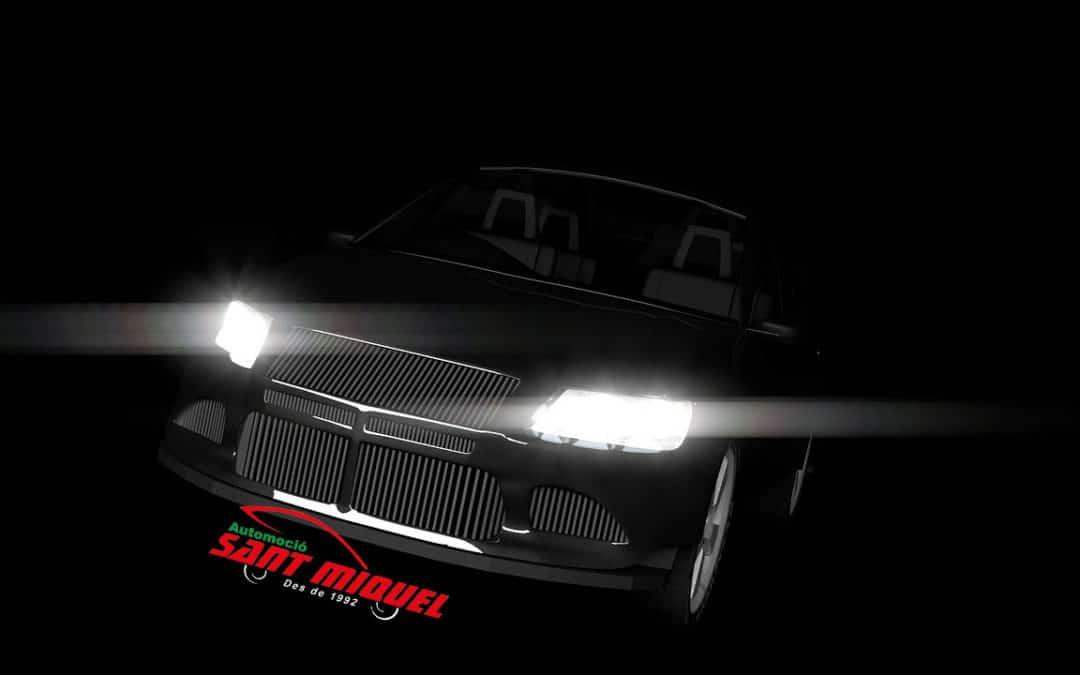 La buena iluminación del coche